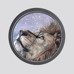 xmas_lion_HUGE Wall Clock