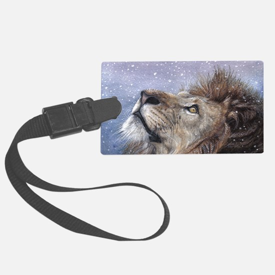 xmas_lion_HUGE Luggage Tag