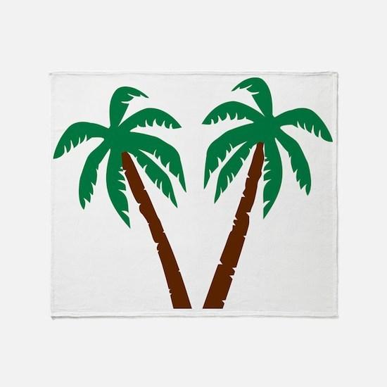 palm_wo_isle Throw Blanket