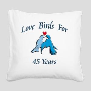 love birds 45 Square Canvas Pillow