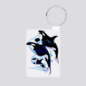 Orca Family Trans Aluminum Photo Keychain