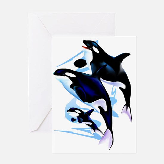 Orca Family Trans Greeting Card