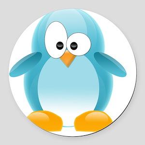 my penguin Round Car Magnet