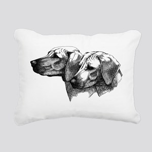 Rhodesian Ridgeback Head Rectangular Canvas Pillow