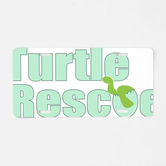 turtlerescue Aluminum License Plate