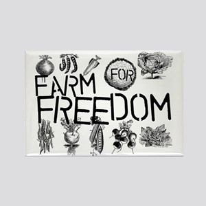 farm for freedom Rectangle Magnet