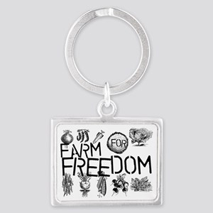 farm for freedom Landscape Keychain