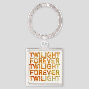 twilight forever orange by twidadd Square Keychain