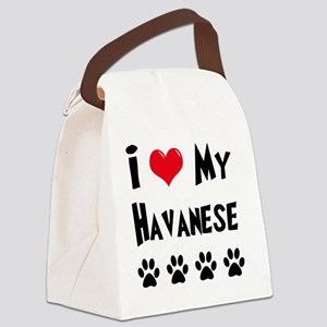 I-Love-My-Havanese Canvas Lunch Bag