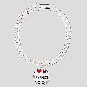 I-Love-My-Havanese Charm Bracelet, One Charm