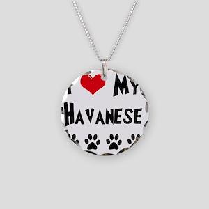 I-Love-My-Havanese Necklace Circle Charm