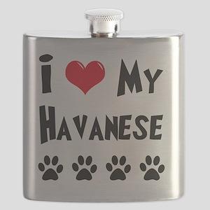 I-Love-My-Havanese Flask