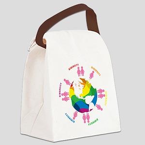 Diversity-LGBT-blk Canvas Lunch Bag