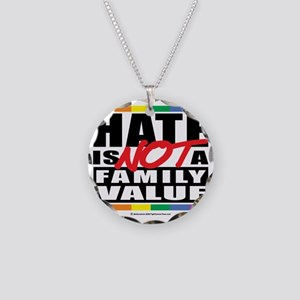 Hate-Family-Value Necklace Circle Charm