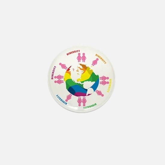 Diversity-LGBT-blk Mini Button