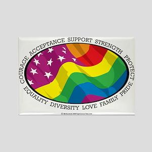 LGBT-Flag Rectangle Magnet