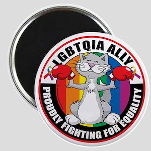 LGBTQIA-Ally-Cat Magnet