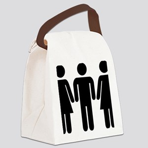 couple_woman_man_woman Canvas Lunch Bag