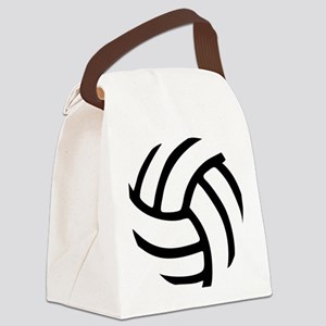 volleyball_birdview2 Canvas Lunch Bag
