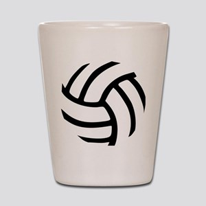 volleyball_birdview2 Shot Glass