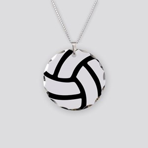 volleyball_birdview2 Necklace Circle Charm