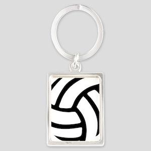 volleyball_birdview2 Portrait Keychain