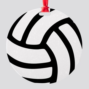 volleyball_birdview2 Round Ornament