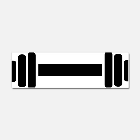 barbell_space Car Magnet 10 x 3