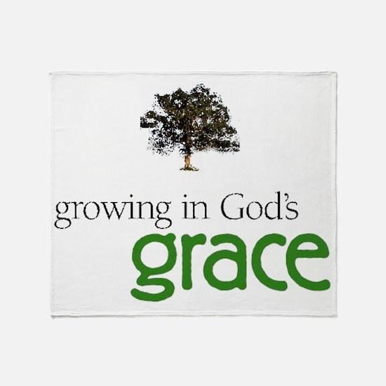 Gods graceTreeHuge Throw Blanket