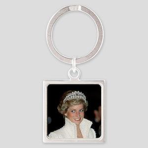 Princess Diana Hong Kong Square Keychain