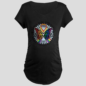 LGBTQIA-Butterfly-Tribal Maternity Dark T-Shirt