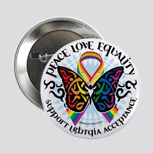 "LGBTQIA-Butterfly-Tribal 2.25"" Button"