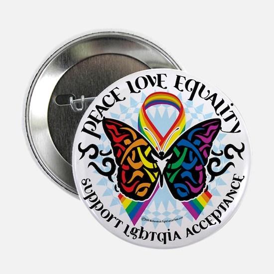 "LGBTQIA-Butterfly-Tribal 2.25"" Button"