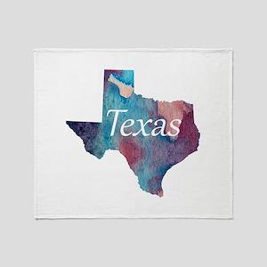Texas silhouette Throw Blanket