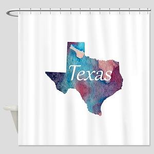 Texas silhouette Shower Curtain