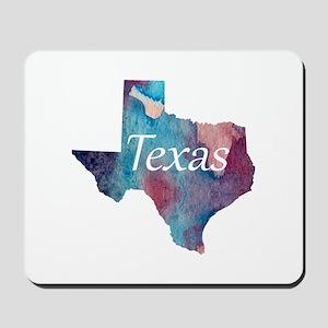 Texas silhouette Mousepad