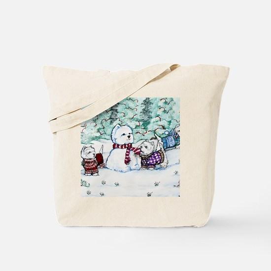 Christmas Card NEW 4.5 5.75 Tote Bag