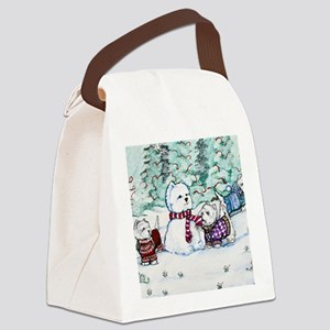 Christmas Card NEW 4.5 5.75 Canvas Lunch Bag
