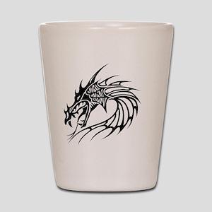Tribal Dragon F Shot Glass