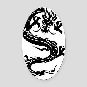 Tribal Dragon E Oval Car Magnet