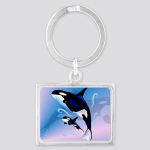 Orca Mom and Baby-Yardsign Landscape Keychain