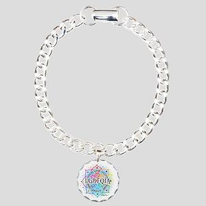 LGBTQIA-Lotus Charm Bracelet, One Charm