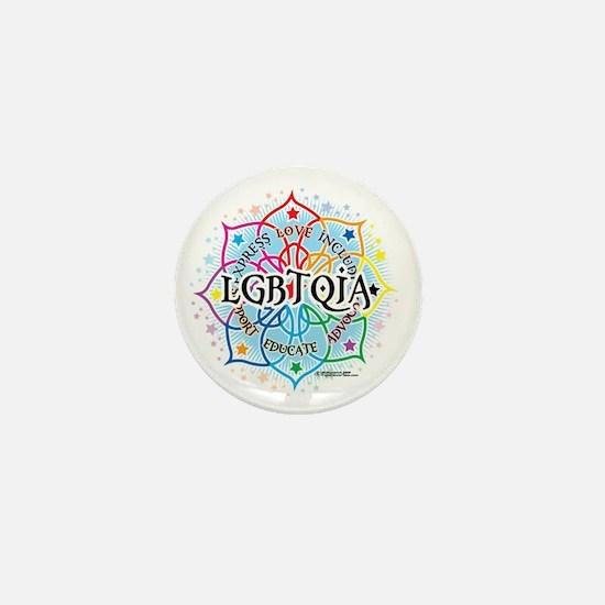 LGBTQIA-Lotus Mini Button