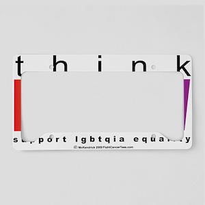 LGBTQIA-THINK-Rainbow License Plate Holder