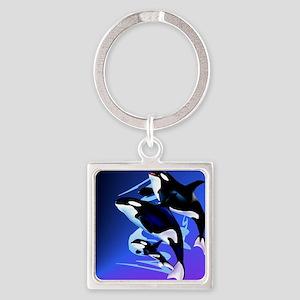 Orca Family_mpad Square Keychain
