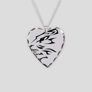 Tribal Tribal Lion B Necklace Heart Charm