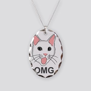 omgcat Necklace Oval Charm