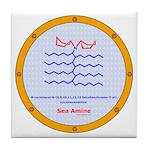 Sea Amine molecule Tile Coaster