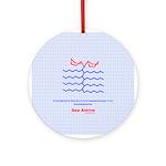 Sea Amine molecule Ornament (Round)