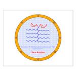 Sea Amine molecule Small Poster